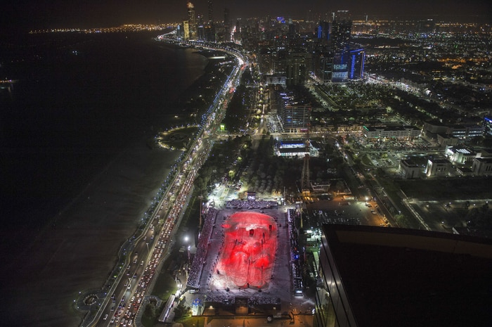 Birdsview of the Abu Dhabi venue