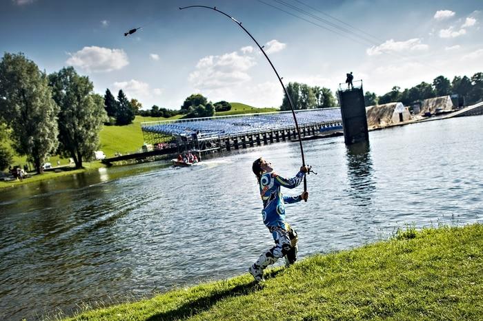 Levi Sherwood loves fishing