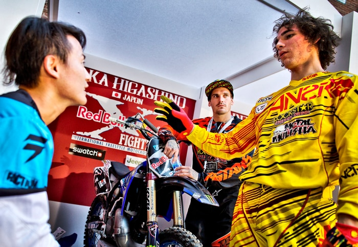 Taka, Clinton & Rob after the test session