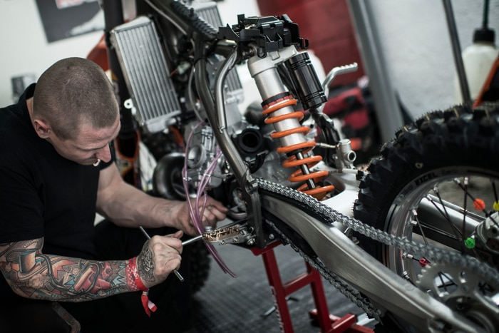 Chad working on Levi´s Bike