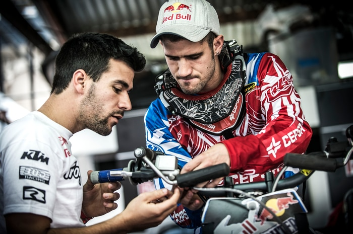 Dany Torres & His Brother Get His Bike Ready